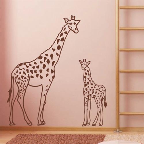 Wandtattoo giraffe mit jungtier aus afrika wandbilder - Wandtattoo afrika tiere ...