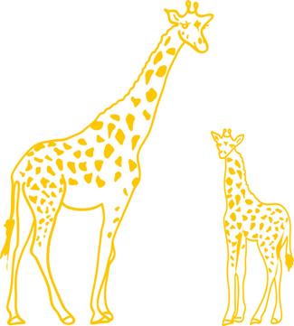 wandtattoo giraffe mit jungtier aus afrika wandbilder. Black Bedroom Furniture Sets. Home Design Ideas